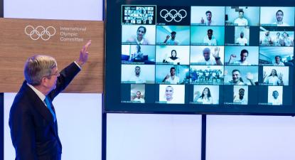 Equipa Olímpica dos Refugiados. Imagem do Comité Olímpico Internacional.