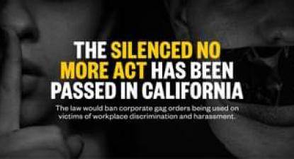 """""""É absolutamente inaceitável que um empregador tente silenciar um trabalhador porque foram vítimas de algum tipo de assédio ou discriminação"""", afirmou Connie Leyva."""