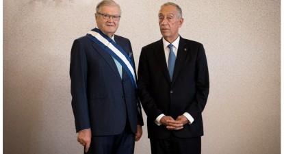 Alexandre Soares dos Santos com o Presidente da República Marcelo Rebelo de Sousa, fonte: Presidência da República