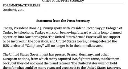 Decisão de Donald Trump