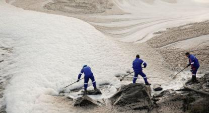Poluição no Tejo: análises confirmam origem na indústria da pasta de papel