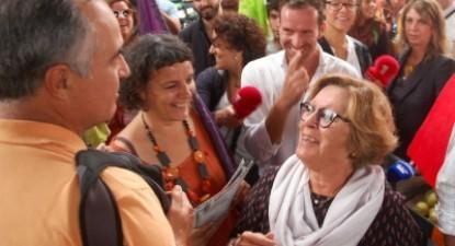 Zuraida Soares no Mercado da Graça, em Ponta Delgada