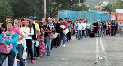 Neste sábado, 8 de junho, 18 mil pessoas saíram da Venezuela para a Colômbia