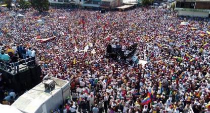 Manifestação em Barquisimeto, no Estado de Lara, convocada pela oposição a Maduro, sábado, 2 de fevereiro de 2018
