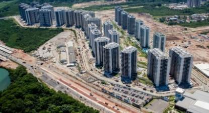 A Vila Olímpica ainda não está concluída, poucos dias antes do início dos Jogos - Foto: André Motta/Brasil2016.gov.br