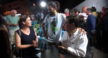Catarina Martins e Mário Gonçalves na apresentação da candidatura do Bloco de Esquerda em Vila Real. Foto esquerda.net