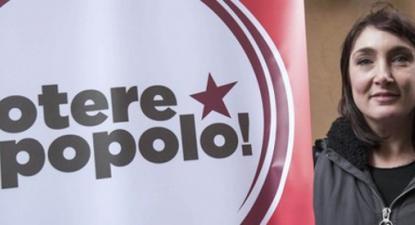 Viola Carofalo é porta-voz do Potere al Popolo. Haverá eleições em Itália no próximo dia 4 de março.