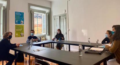 Catarina Martins reúne com a CNJ. Novembro de 2020.