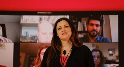 """Marisa Matias esteve hoje à conversa com algumas das pessoas que estão na """"linha da frente"""" no combate à pandemia e que já tinham marcado presença no lançamento da campanha presidencial."""