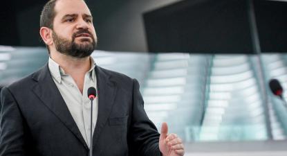 José Gusmão no Parlamento Europeu. Foto: GUE/NGL
