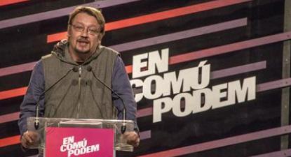 Xavier Domènech, cabeça de lista do En Comú Podem.