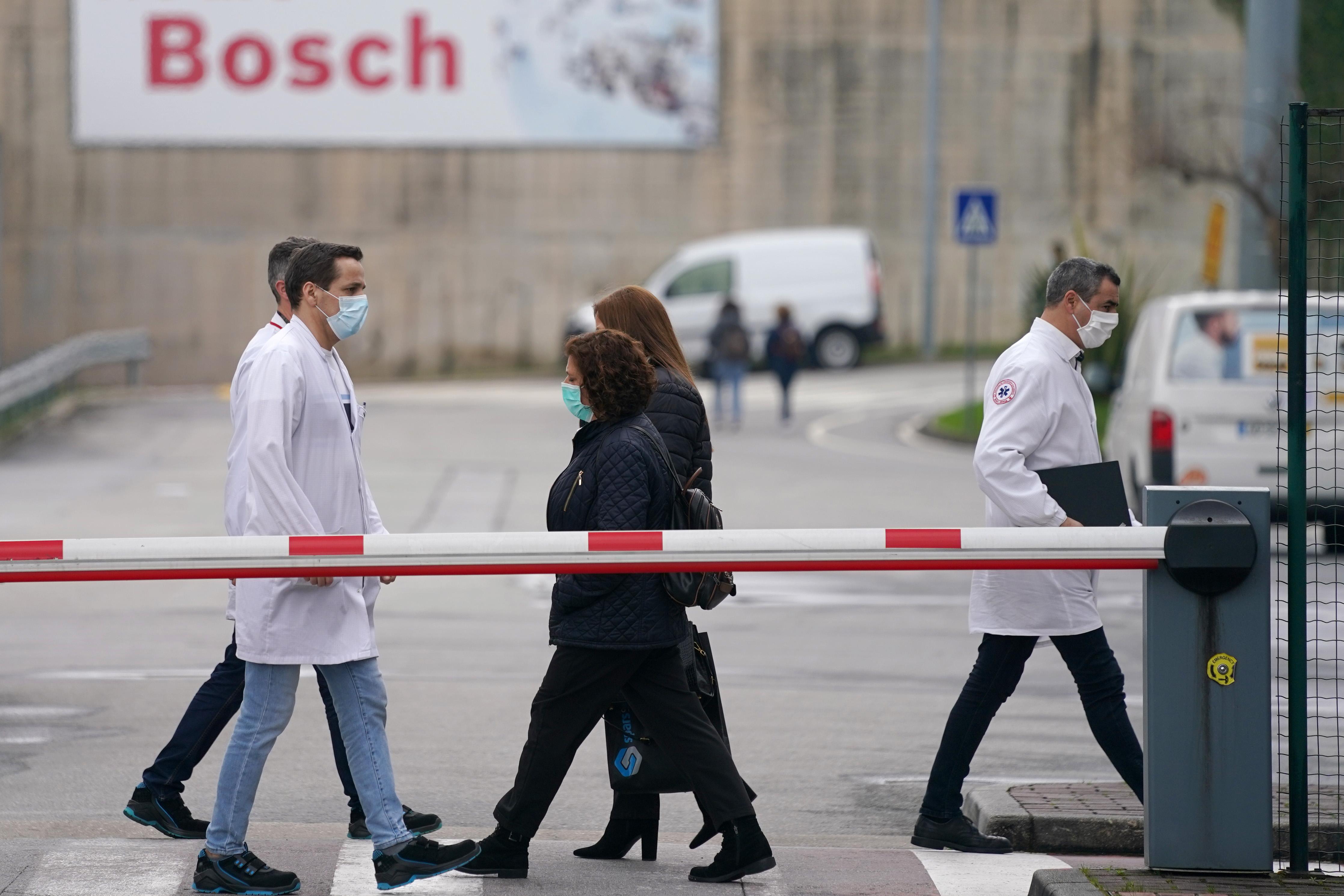 Trabalhadores da Bosch. Foto de Hugo Delgado, Lusa.