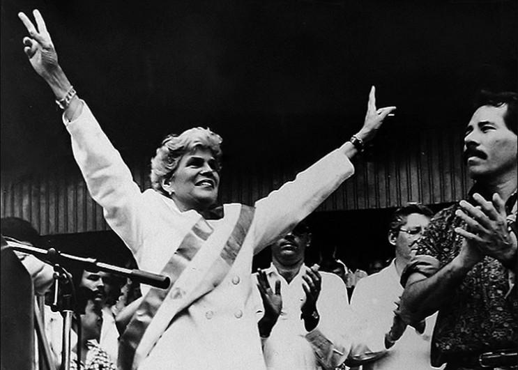 Violeta Chamorro venceu as eleições em 1990