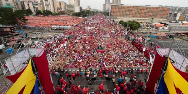 Manifestação convocada pelo Governo de Maduro em 19 de abril