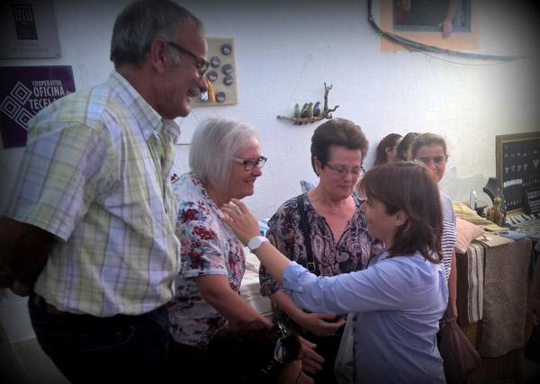 Catarina Martins no Festival Islâmico de Mértola.